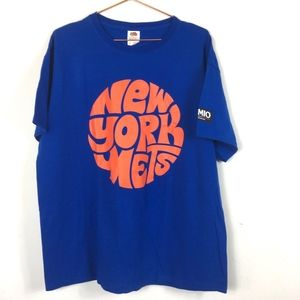 New York Mets Blue Orange T-Shirt XL u/a